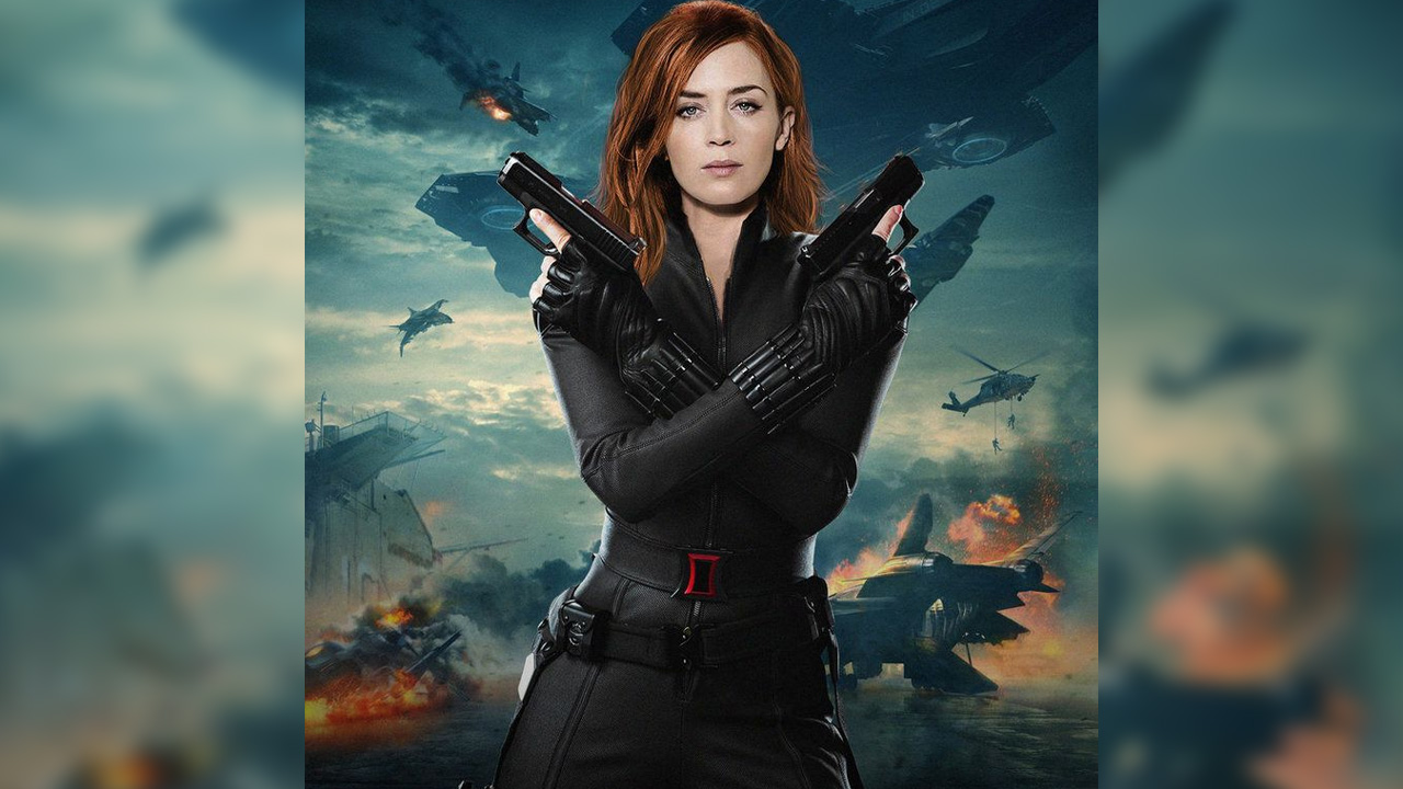 emily blunt black widow