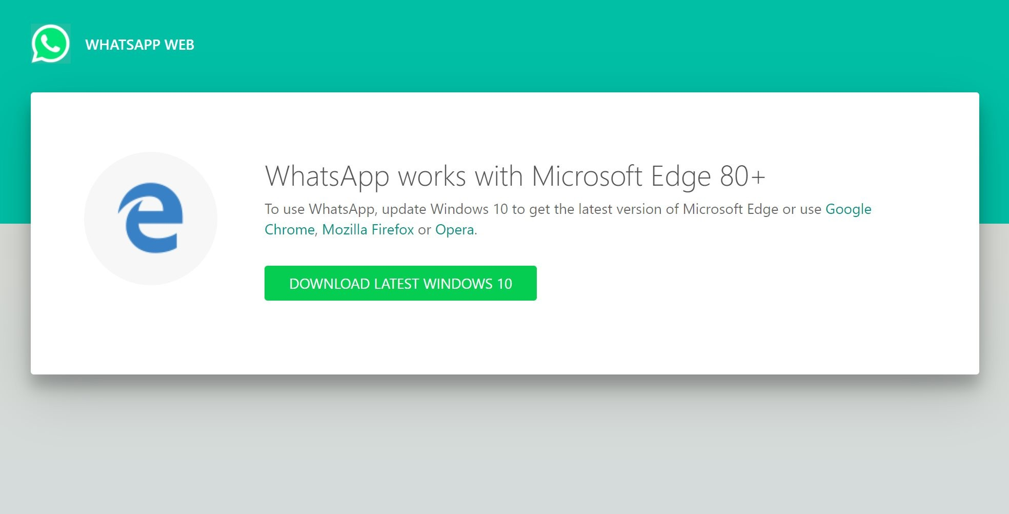 edge whatsapp