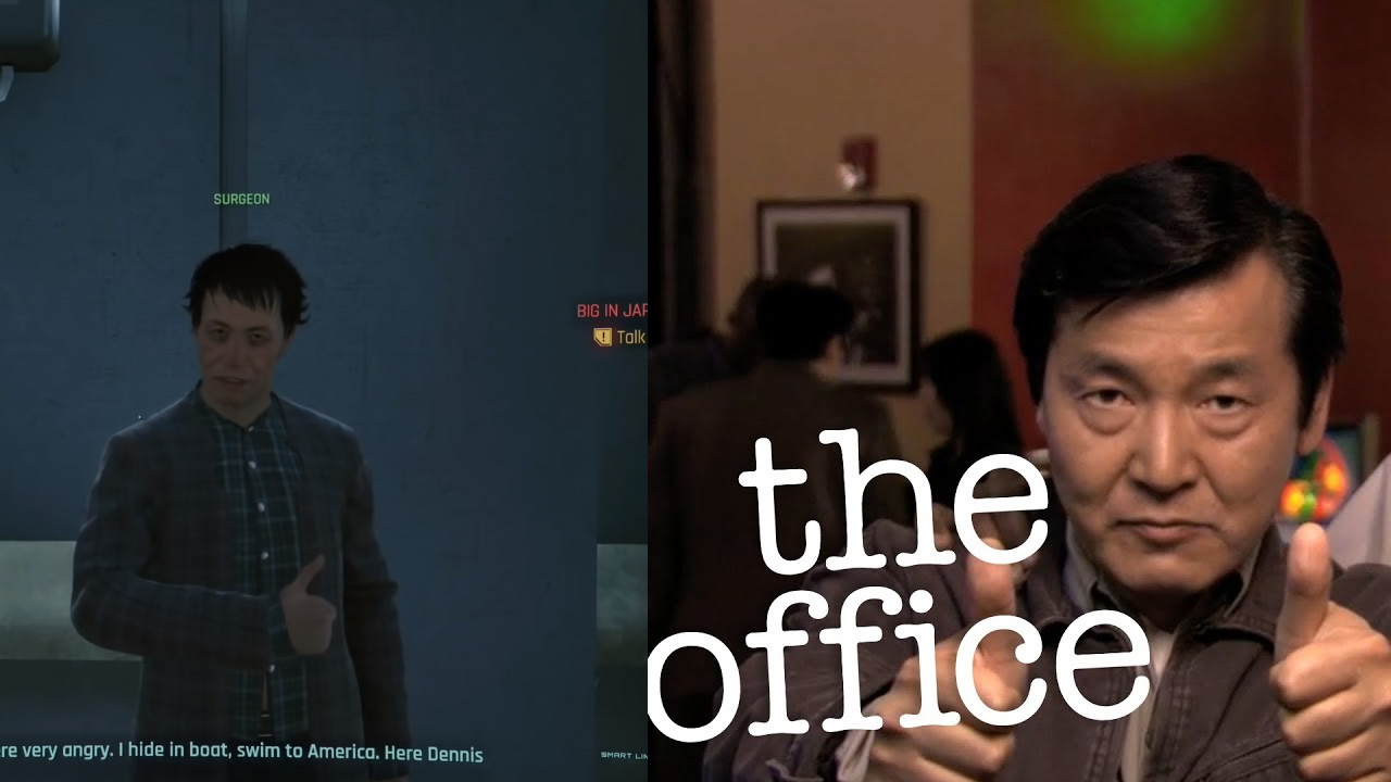 cyberpunk 2077 the office easter egg