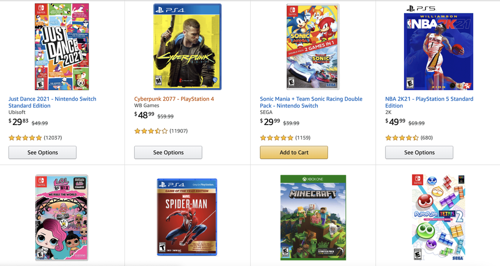Stock up on hit games in Amazon's buy 2, get 1 free sale