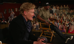 Conan O'Brien brings back 'Clueless Gamer' segment to play 'Biomutant' with JB Smoove